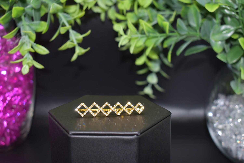 Rhinestone Ear Crawler- Gold