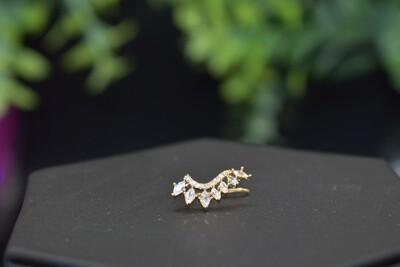 Marquis Rhinestone  Ear Crawler - Gold
