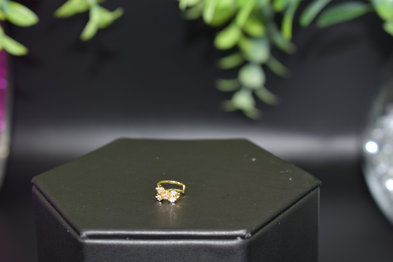 Rhinestone Ear Cuff - Gold
