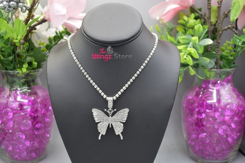 Butterfly Drip - Silver