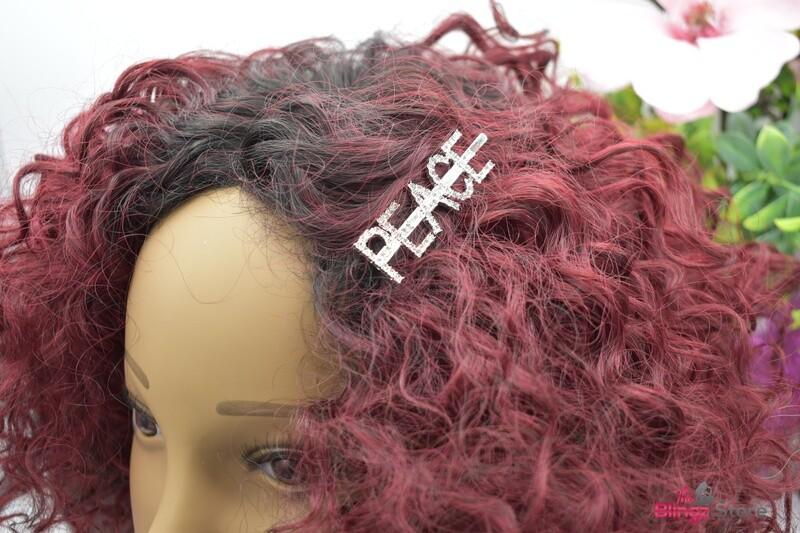 Peace Hair clip - Silver