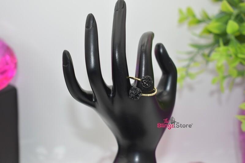 Druzy Stone - Black