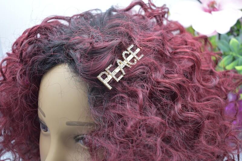 Peace Hair Clip - Gold