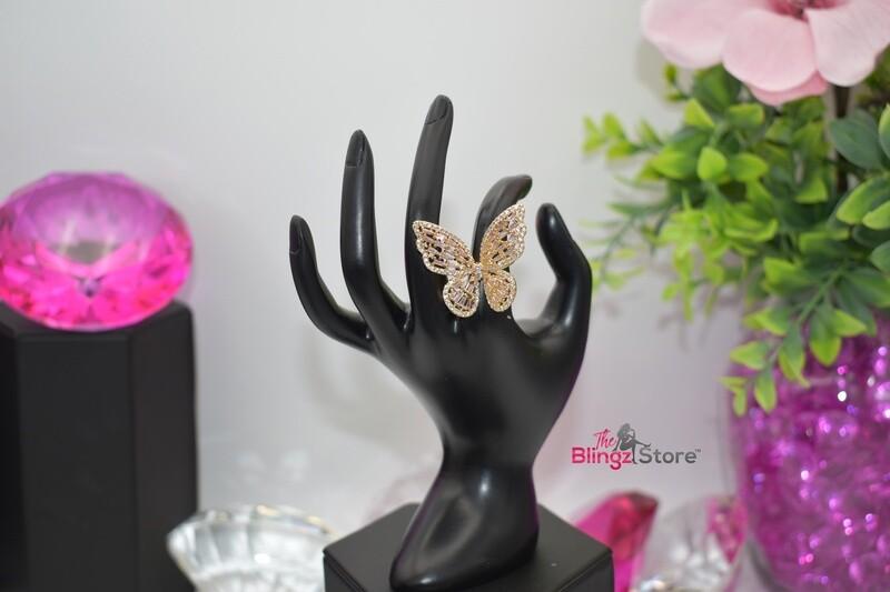 Rhinestone Butterfly - Gold