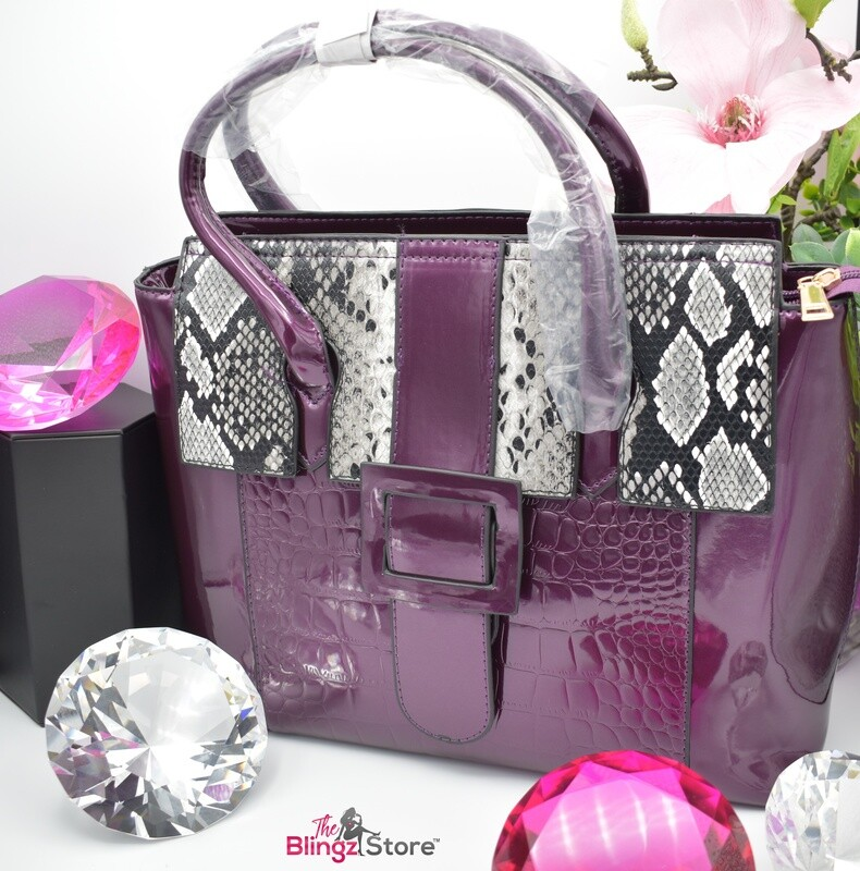 Snakeskin Purse - Purple