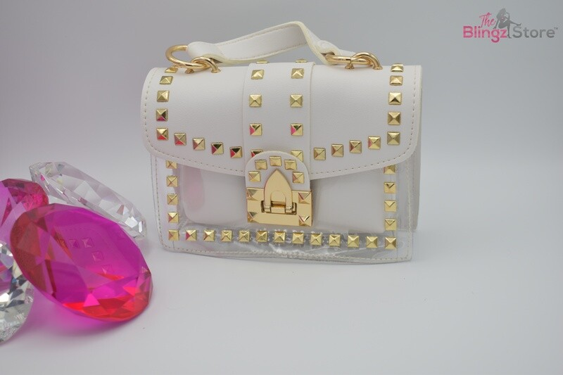 Studded Crossbody - White