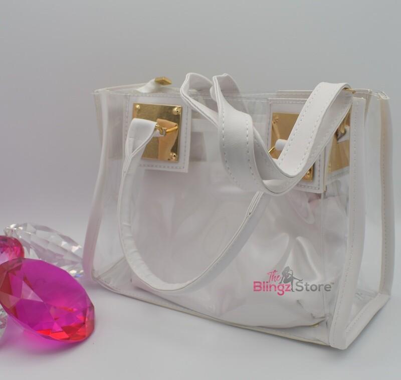 PVC purse - White