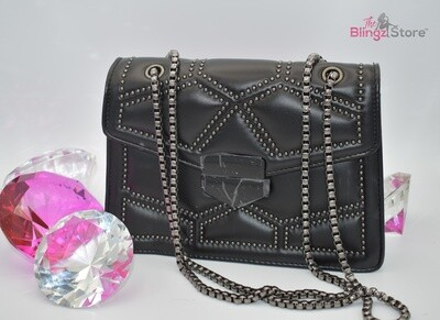 Leather pillbox style - Black