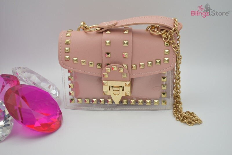 Studded crossbody - Pink