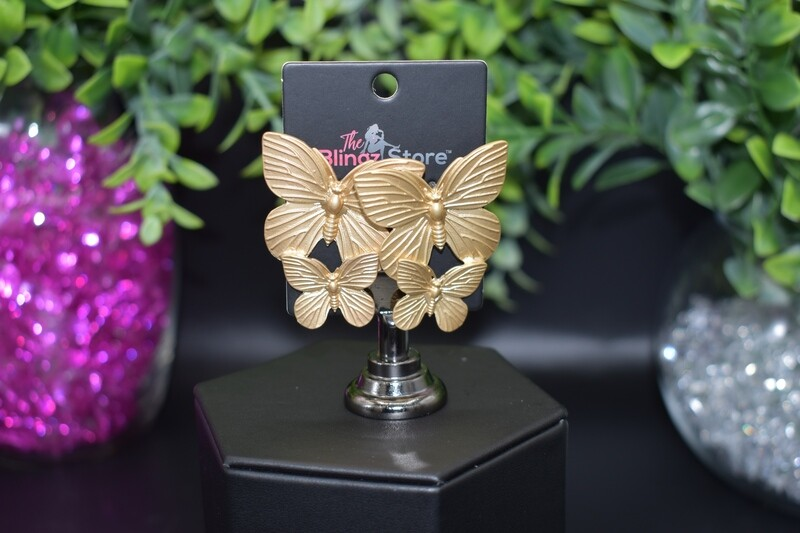 Double Butterfly - Gold
