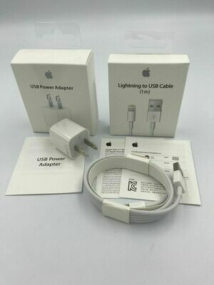 Apple USB Power Adapter + Lightning To USB Cable (1m)