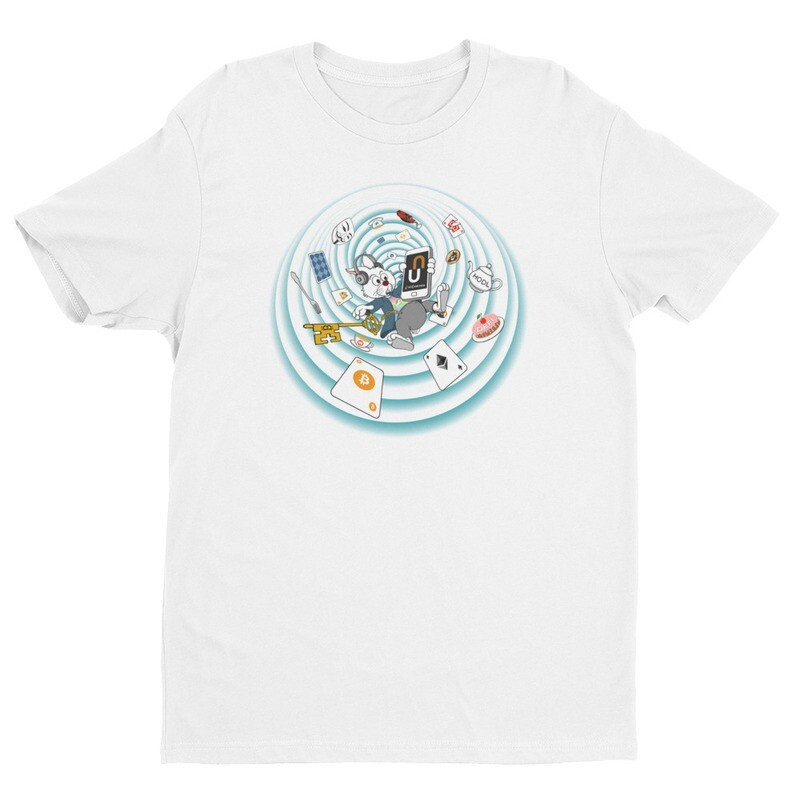 The Crypto Rabbit Hole T-Shirt -- White