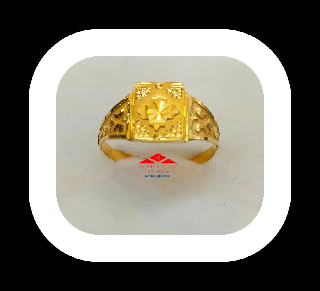The Happy Leaf Gold Ring