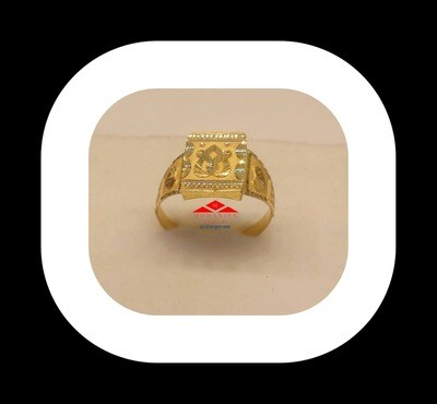 The Heart Crossing Gold Ring