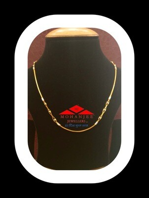Twinkling Eyes Gold Chain