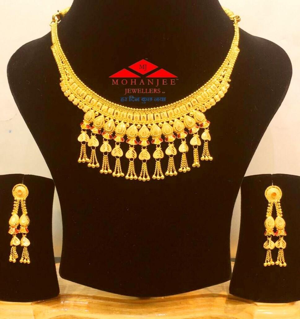 Jhankar Gold Necklace Set