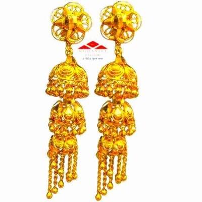 Tripdek Gold Jhumki