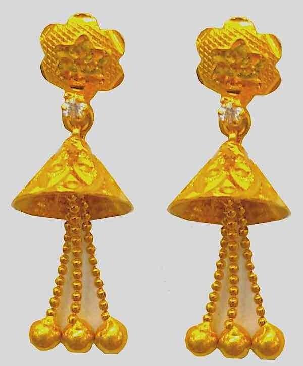 Short Cone Gold Jhumki
