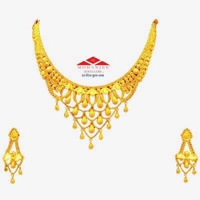 Fruity Drop Gold Necklace Set