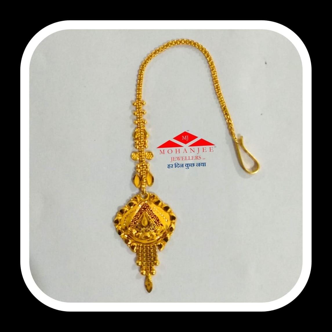 Tricutes Gold Maang Tikka