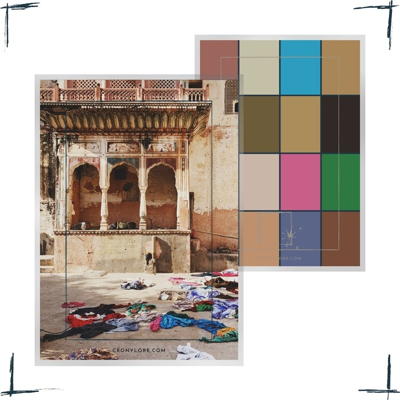Temple Clothes, India, Poster-Set