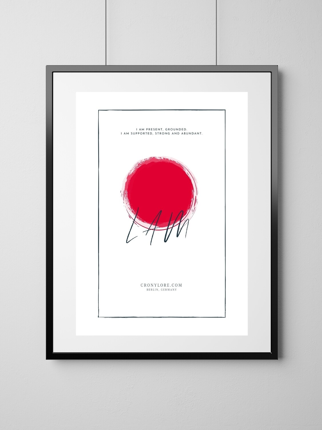 Root Chakra (Art Poster, Instant Download)
