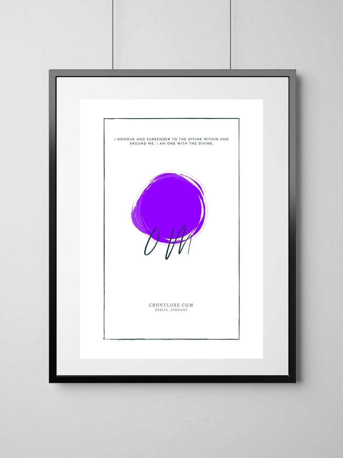 Crown Chakra (Art Poster, Instant Download)