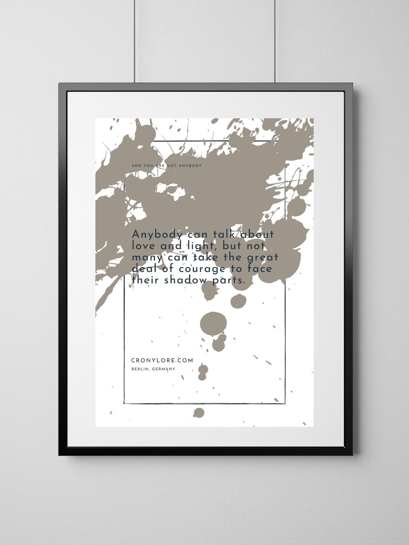 Shadow (Art Poster, Instant Download) + Exclusive Bonus E-Workbook