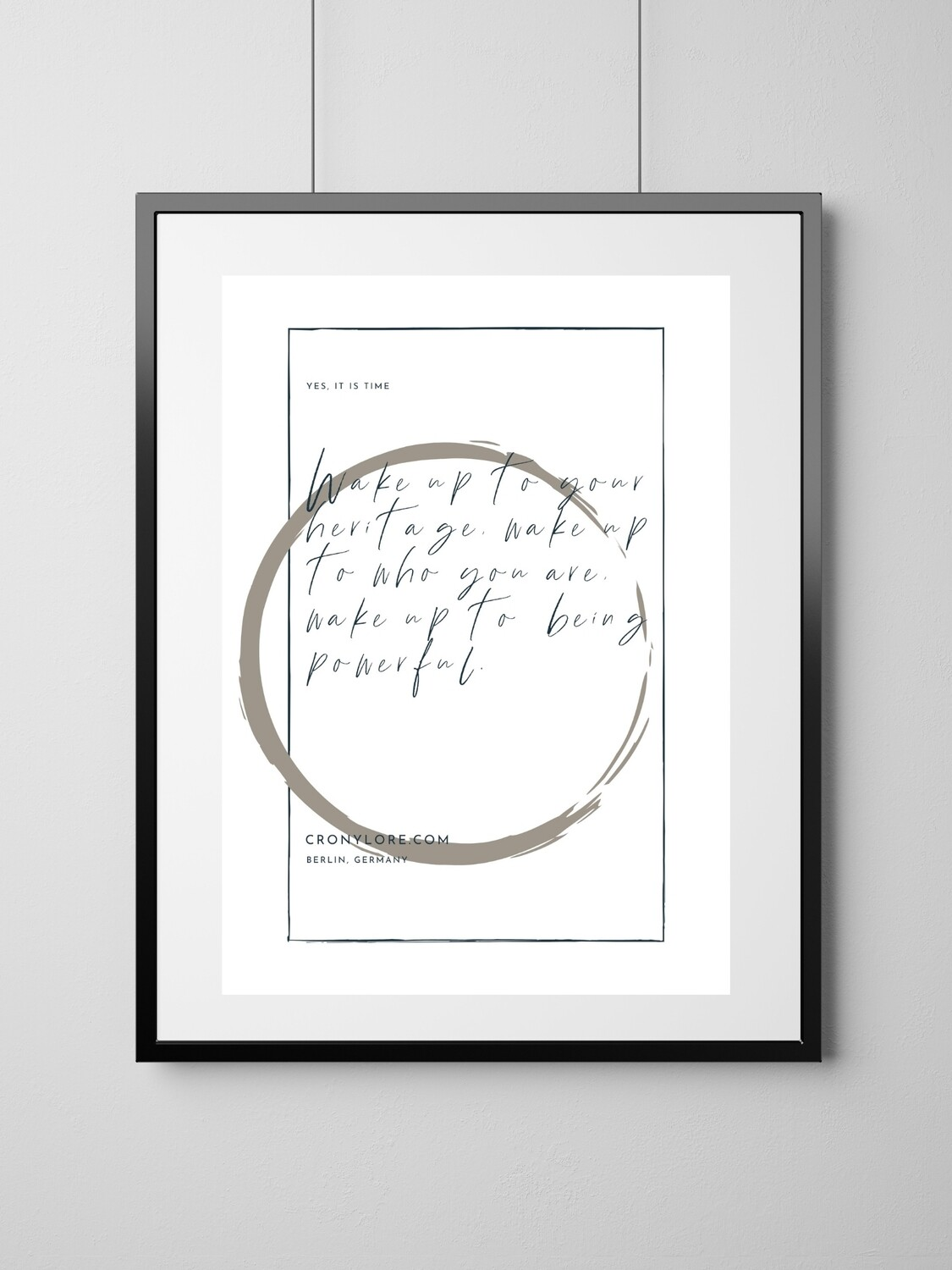 Wake Up (Art Poster, Instant Download)