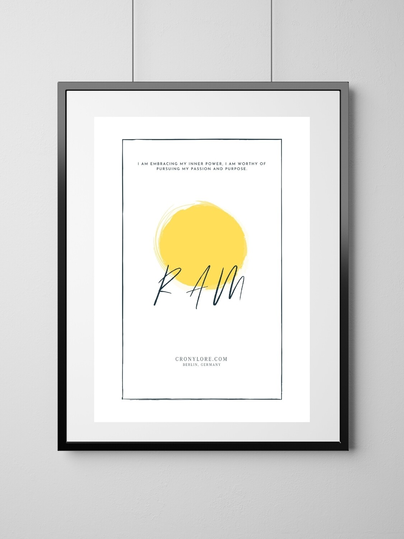 Solar Plexus Chakra (Art Poster, Instant Download)