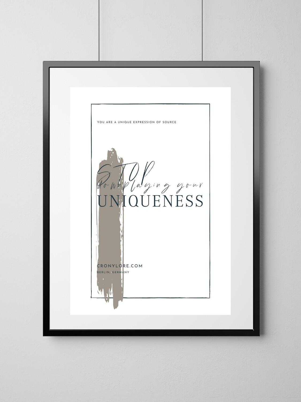 Unique (Art Poster, Instant Download)