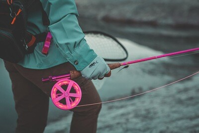 Pink Nymph Trout Reel