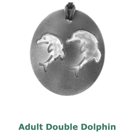 Adult Surfboard and Double Dolphin Pendants