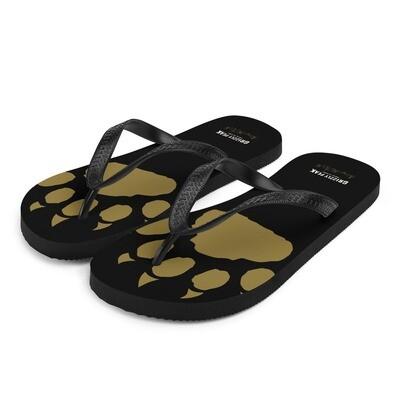 GP Paw in Black Flip-Flops