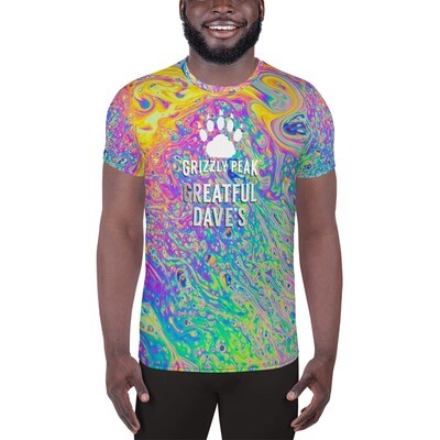 Greatful Dave's All-Over Print Men's Athletic T-shirt