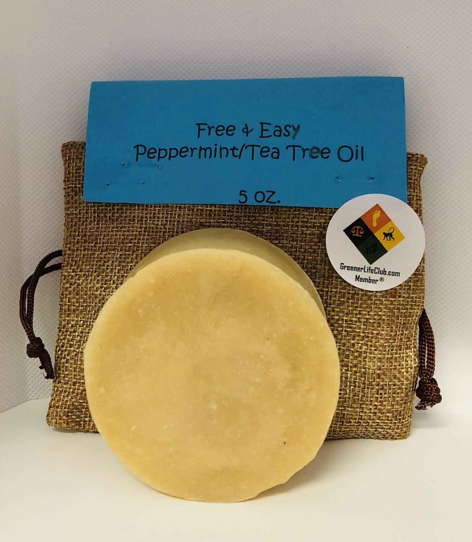 Free & Easy Peppermint/Tea Tree Goat Milk Soap