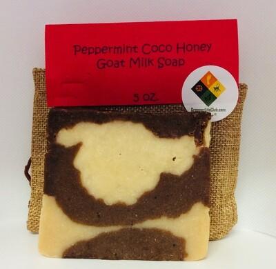 Peppermint Coco Honey Goat Milk Soap