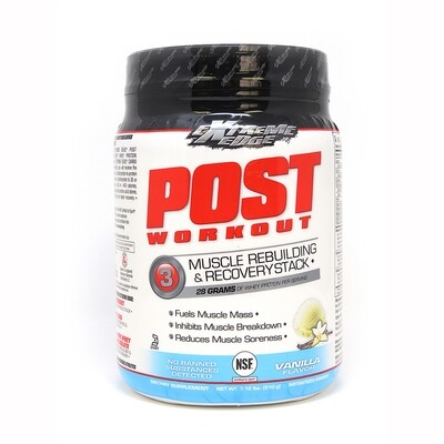 Extreme Edge Post Workout Muscle Rebuilding & Recovery Stack Vanilla flavored