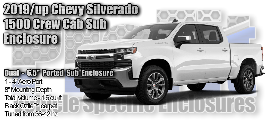 "2019/up Chevy Silverado 1500 Crew Cab Dual 6.5"" Ported ProFit Subwoofer Enclosure"