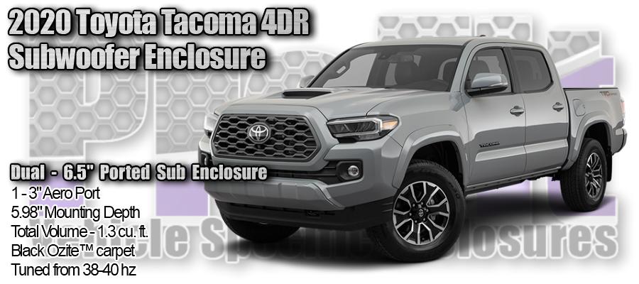 """2020 Toyota Tacoma - Dual 6.5"""" Ported Sub Enclosure"""