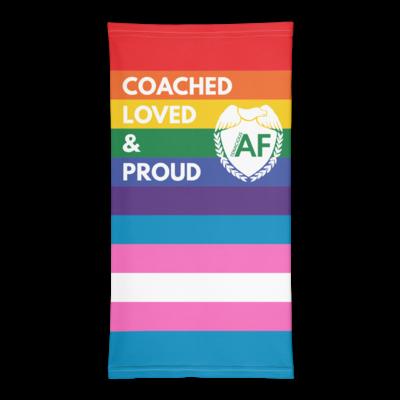 Tenacious AF Rainbow/Transgender Pride Flag Neck Gaiter