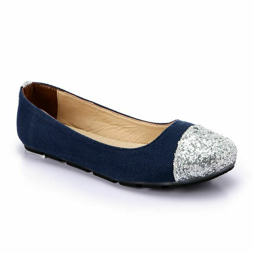 3269  Flat Shoes - Navy*Ketan