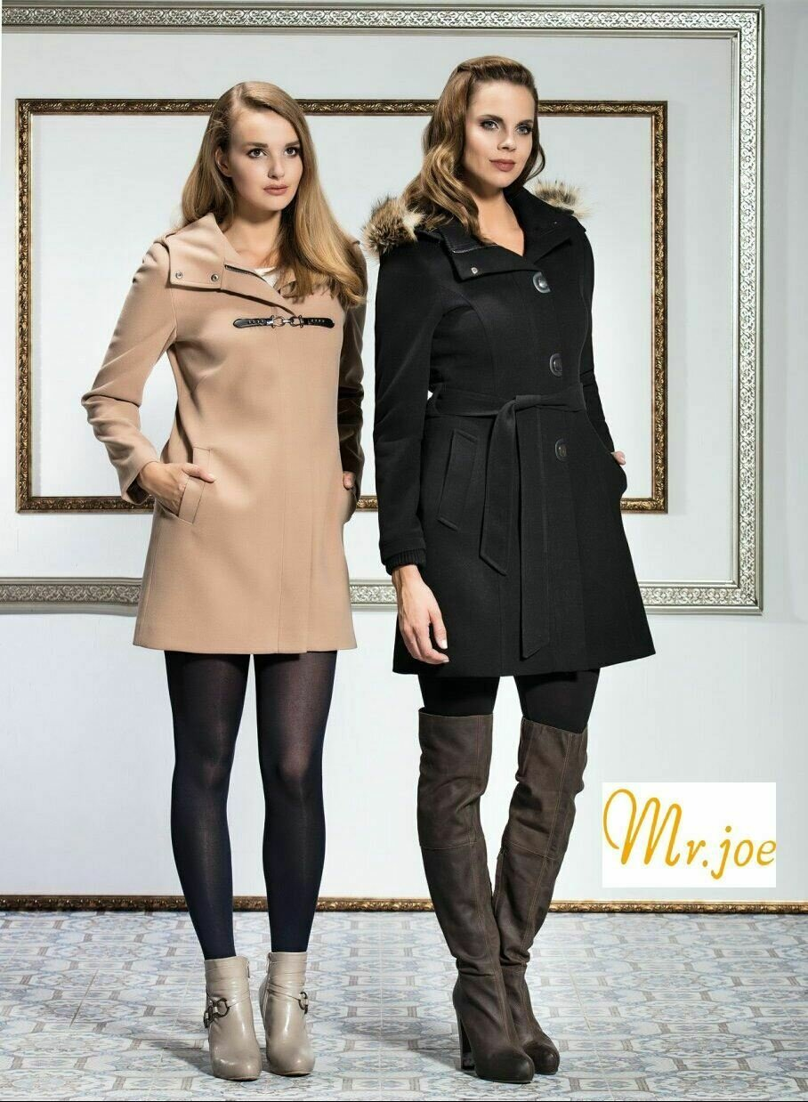 8194 Coat - Black and cafe