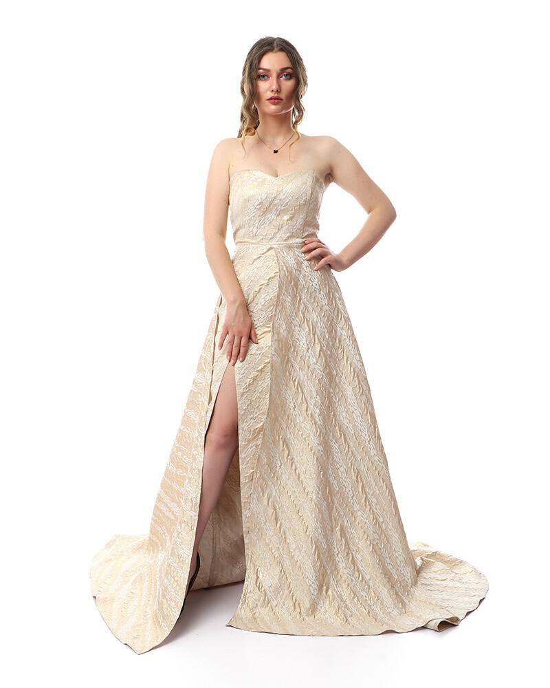 8362 Soiree Dress - Gold