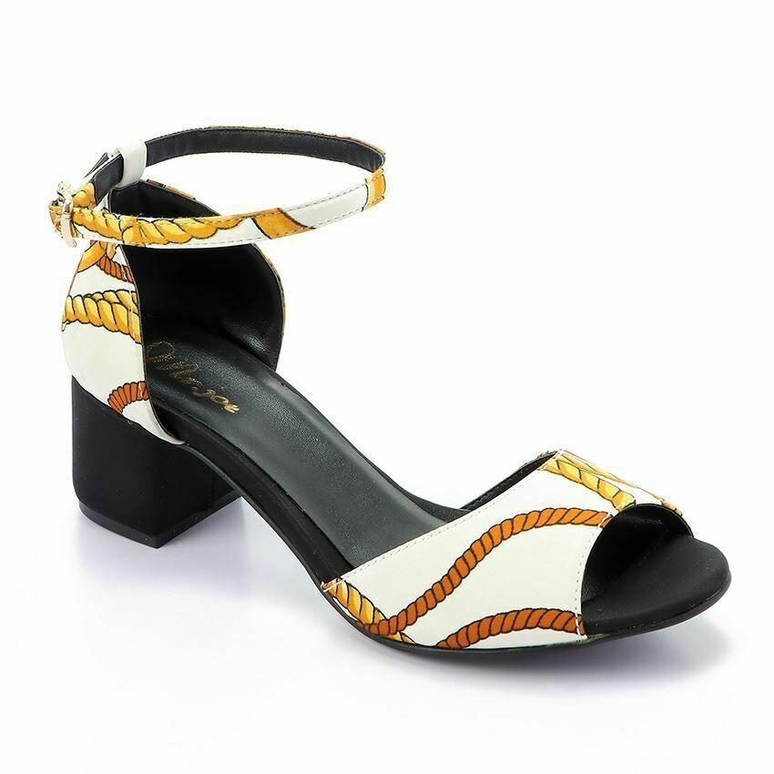 3346 Sandal - White *Gold