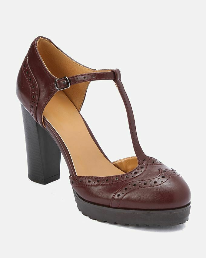3197 Shoes - Burgundy