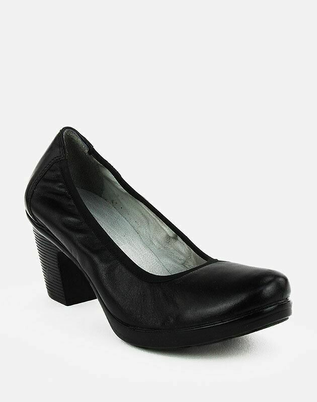 3688 Nature Leather Shoes-Black