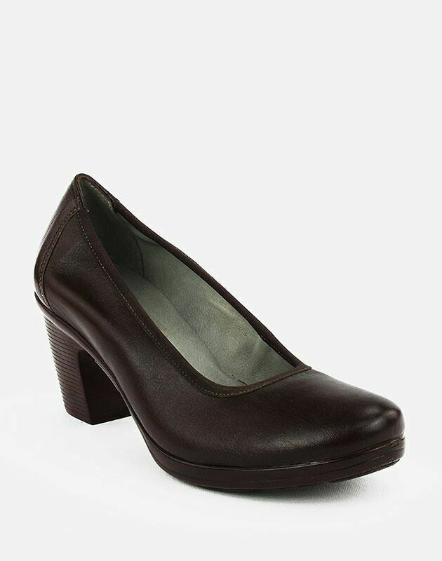 3688 Nature Leather Shoes-Brown