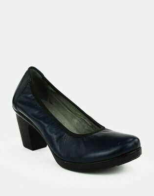 3688 Nature Leather Shoes-Navy