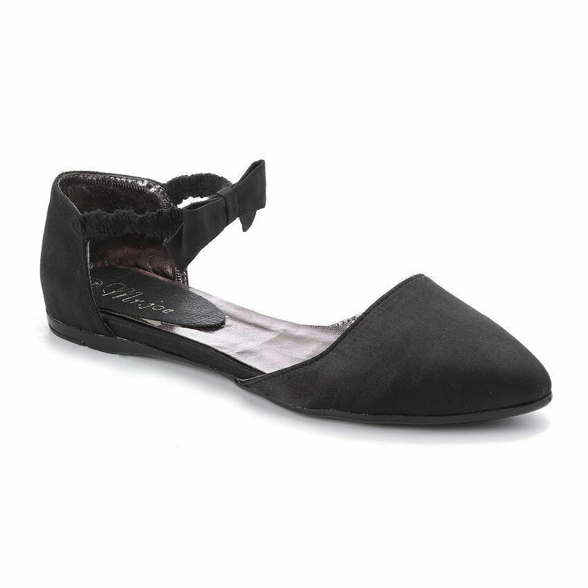 3268  Satan Flat Shoes - Black